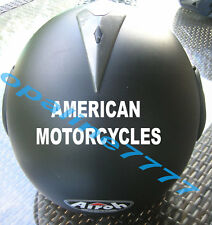 STICKER CASQUE AMERICAN MOTORCYCLES BIKER MOTO USA