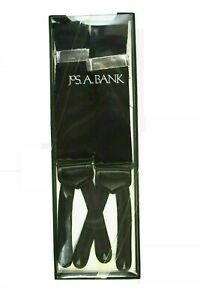 Jos A Bank Men's Formal Button-In Suspenders Braces BLACK Satin 84LZ One Size