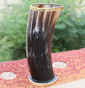 Ale beer mead viking warrior drinking horn cup mug for boyfriend birthday gift