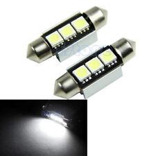 2X 12V 36mm 3-LED 5050 SMD 6418 White CANBUS Error Free Dome Car Light Lamp Bulb