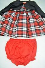SALE! MARMELLATA 12 Months, Infant Plaid CHRISTMAS Dress, Velvet Sweater, NWOT