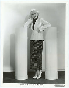 Platinum Blonde Alice Faye Original 1930s Fashionable Art Deco Pin-Up Photograph
