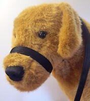 20mm Wide K9 CUSHION Figure of Eight 8 halter  head-collar,NO LEAD Black.