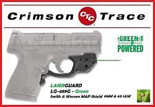 CRIMSON TRACE LG-489G GREEN LASERGUARD - SMITH & WESSON M&P SHIELD 9MM & 40 S&W