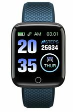 TimeTech smart Watch Bandfarbe blau USB Bluetooth Uvm. Stt1222