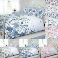 Sketch Floral Duvet Cover Sets King Size Double Single Super Reversible Bedding