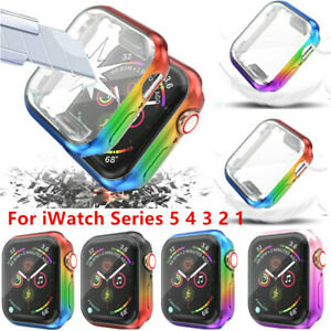 Rainbow TPU Case Cover Accessories Screen Protector For iWatch Series 6 5 432 SE