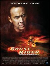 Affiche 120x160cm GHOST RIDER (2007) Nicolas Cage, Eva Mendes, Wes Bentley TBE