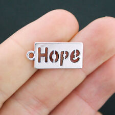 10 Hope Charms Antique Silver Tone - SC4056