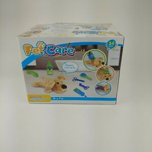 Pet Care Play Set 34 Pieces, Vet Clinic and Cage Pretend Play for Kids F-422