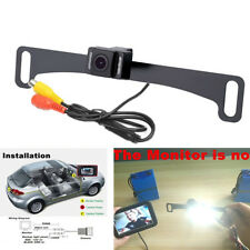 CMOS Car License Plate Rear View Reverse Backup Night Vision Camera Waterproof