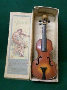 Vintage Metal Toy Violin Made in Japan