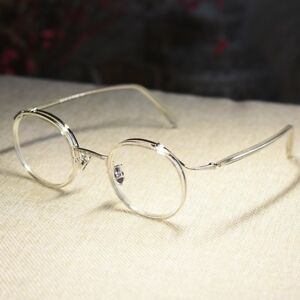 Retro crystal John Lennon eyeglasses mens womens round RX clear lens glasses