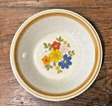 "New listing Floribunda #F5813 Vtg Mikasa Stone Manor Stoneware 7-1/8"" Soup / Cereal Bowl Euc"