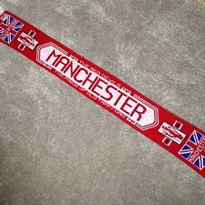 Manchester United Football Soccer Scarf Red Devils The Pride of Manchester RARE