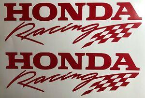 Honda Racing Decal Stickers Checker Flag Set of 2 JDM Civic Accord Prelude Moto