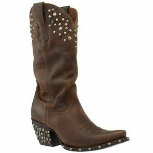 Ariat Calypso Studded Snip Toe   Womens  Western Cowboy Boots   Mid Calf Low
