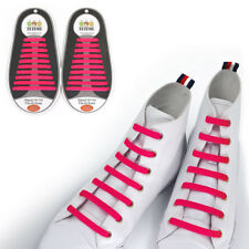 TOTOMO Pink No-Tie Elastic Shoelaces Silicone Tieless Shoe Laces for Sperry Vans