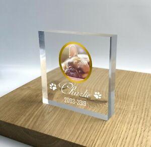 Personalised Pet Memorial Block Plaque Paw Pet Photo 3D Effect Grave Marker 2021