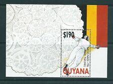 GUYANA 1991 HB 68 BARCELONA 92 ESGRIMA/BOLILLOS HOJA BLOQUE
