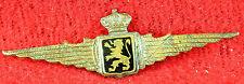 """Scarce WWII BELGIUM AIR FORCE PILOT WINGS Hat Cap Badge 2-3/4"""" Insignia Military"""