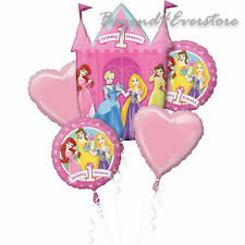 Disney All Princesses 1st Happy Birthday 5 Mylar Bouquet Balloons Party Favor