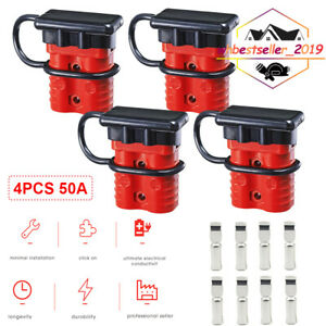 4X  50A Battery Wire Harness Plug Disconnect Winch Connector for Caravans RV Car