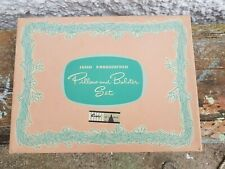 More details for vintage irish embroidered cotton pillow and bolster set c1950 - boxed and unused