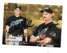 "JIM MORRIS ""THE ROOKIE"" & DAN WHEELER 2000 SKYBOX AUTOGRAPHED SIGNED # 282 RAYS"