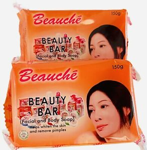 2 x Beauche Skin Care Beauty Bar Facial & Body Soap 150g