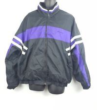 Vintage Winners Brand Windbreaker Racing Stripes Jacket Purple Large 80s 90s H2