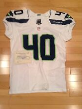 Seattle Seahawks Joe Sommers Game Used Team Issued White Away Jersey 2016