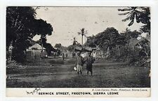 BERWICK ST, FREETOWN: Sierra Leone postcard with PLYMOUTH PAQUEBOT pmk  (C20303)