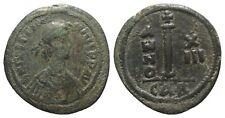 Justinian I (527-565). Æ 10 Nummi (23.5mm, 5.69g, 2h) Carthage, year 13 (539/40)