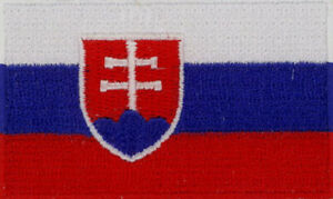 """Slovakia Flag Embroidered Patches 2.5""""x1.5""""  iron-on"""
