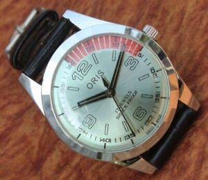 Antique Vintage Swiss Watch 17Jewels FHF ST96 HAND WINDING Men's Wrist Watch