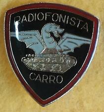 DISTINTIVO METALLO RADIOFONISTA CARRO ESERCITO ITALIANO SPILLA SPECIALITA'  E.I.