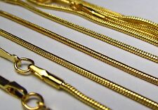 Wholesale 11 PCS Gold Plated Snake Chain Necklace Lot