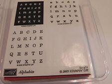 Stampin Up Alphabits Stamp Set of 4 (Alphabet Letters)