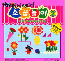 ORIGAMI PAPER FLOWER GARDEN MAKING SET with STICKERS and PICTURE INSTRUCTIONS