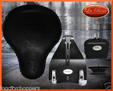 "LaRosa Custom Harley Softail Solo Seat & Mount Kit Combo-Black Leather 3""springs"