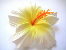 Hawaii Bridal Wedding Party Life-like Hibiscus QTY ( 2 ) Flower Hair Clips