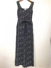 ESPRIT Black Spotted Jumpsuit UK 10 Sleeveless Oversized Leg Loose Baggy NWT