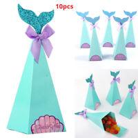 10× Mermaid Candy Boxes Mermaid Party Weeding Supplies Mermaid DIY Gift Box Hot