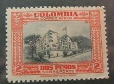 Colombia Stamp Scott# C131 Building 1941 MH W3