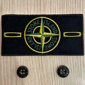 Stone Island Badge [Toppa + Bottoni] Ricambio Patch Originale Stone Island Patch