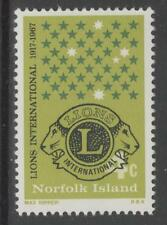 NORFOLK ISLAND SG91 1967 LIONS INTERNATIONAL MNH