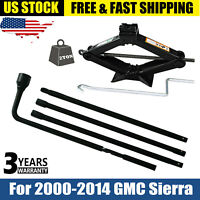 For 2000-2014 GMC Sierra 1500 2500 3500 Spare Tire Tool Kit and 2T Scissor Jack