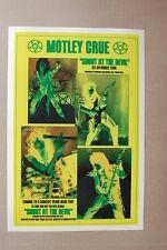 Motlet Crue Concert Tour Poster 1983 1984 World Tour Shout at the Devil #3 Yello