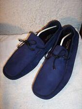 NEW Bugatchi sz 13 Navy Blue Napoli Nubuck Moccasin Driving Loafers